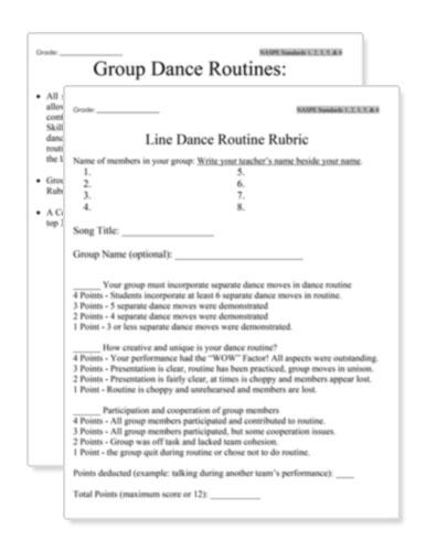 Dance Routine Image
