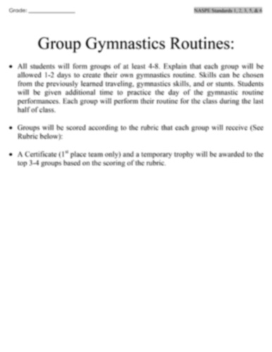 Group Gymnastics Image